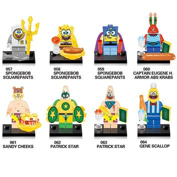 Compatible LegoINGlys NinjaINGlys Spongebob figures DIY Children Gift Building Blocks Kids Toys Y0113