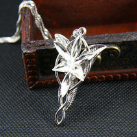 The Lord Of Rings- Arwen Evenstar Pendant Necklace LOTR the Lord or Ring Necklace