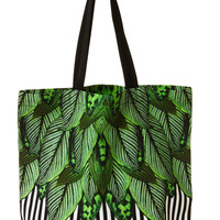 Daria Tote Bag Botanical Stripe | New Arrivals | Monki.com