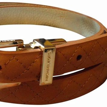 Michael Kors Women's Reversible Quilted Genuine Leather Belt