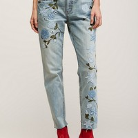 Free People Shower Me with Flowers Jeans at Free People Clothing Boutique