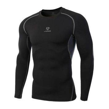 DCCKFS2 Quick Drying Sport Men Fitness Compression Shirt Gym Bodybuilding Long Sleeve Runnng T-shirt Crossfit Tops Shirts