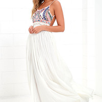 Raga Baja Sunset Ivory Maxi Dress