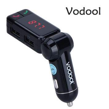VODOOL Universal FM transmitter Bluetooth Car Charger Kit wireless Handsfree Phone Speaker FM Transmitter MP3 audio Player
