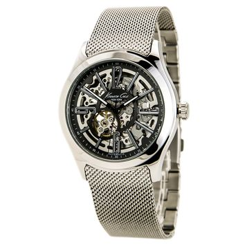 Kenneth Cole KC9326KCP Men's Stainless Steel Automatic Skeleton Dial Watch