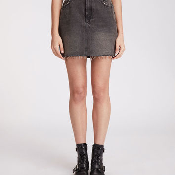 ALLSAINTS CA: Womens Betty Skirt (washed_black)