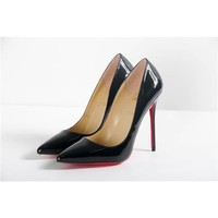 Sexy Christian Louboutin Black Sophisticated Stiletto Heel Red Bottoms