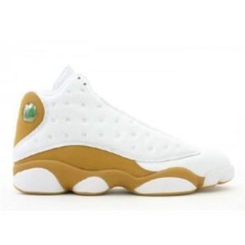 Beauty Ticks Nike Air Jordan 13 Retro White Wheat Basketball Sport Shoes