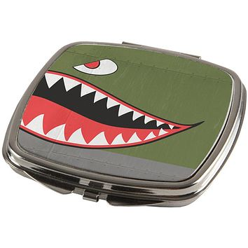 Halloween WWII Flying Tiger Fighter Shark Nose Art Compact