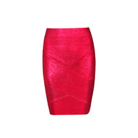 Women's Fashion High Rise Zippers Bandages Skirt [4919755396]
