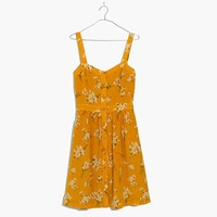 Silk Fleur Bow-Back Dress in Butterfly Garden
