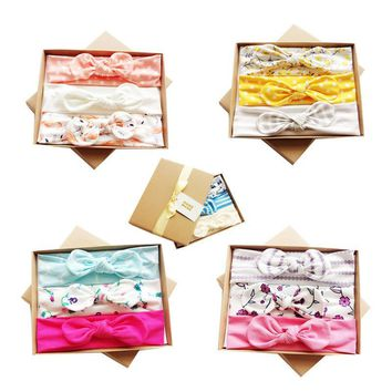 Three loaded with gift box creative children's hair band