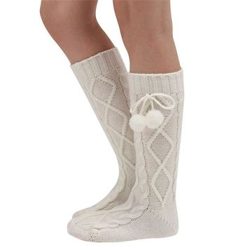 2017 Hot sale fashion Women Knitted Long Boot Over Knee Thigh High compression funny