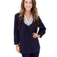 Navy With Me Blouse | Monday Dress Boutique