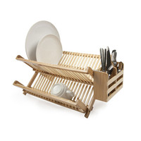 Dry & Hide Bamboo Dish Rack