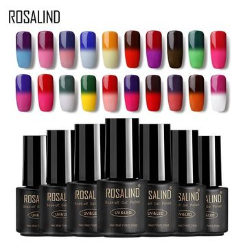 ROSALIND Gel 1S 7ML Temperature Changing Gel Varnish For Nail Art Manicure Gel Nail Polish Long lasting Hybrid Nail Primer