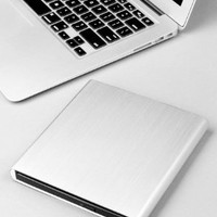Premium Slot Aluminum External USB DVD+RW,-RW Super Drive for Apple--MacBook Air, Pro, iMac, Mini