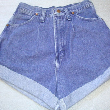 VINTAGE WRANGLER RIATA  purple high waisted rise women denim jeans size 28 inch waist