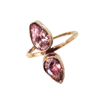 Duo Pear Ring