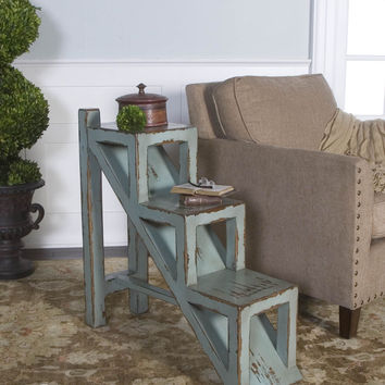 Asher Blue Accent Table