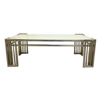 Pre-owned Milo Baughman DIA Chrome & Mirror Cocktail Table