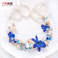 Headband handmade Shell Bride Jewelry Party Wedding Accessories weilan
