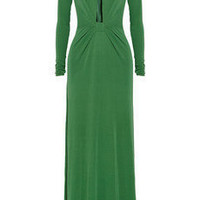 Issa | Open-front silk-crepe jersey gown | NET-A-PORTER.COM