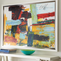 """""""Bold Patchwork"""" Giclee - Horchow"""