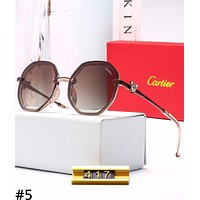 Cartier 2019 new style brand big box female retro polarized sunglasses #5