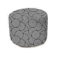 Psychedelic Circles Pouffe