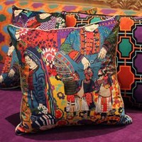 """Asian Ethnic Costume Colorful Pillow 18""""X18"""""""