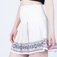 Flowy Embroidered Skirt