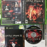 Fatal Frame II Crimson Butterfly Xbox -Complete- CIB FAST + FREE SHIPPING