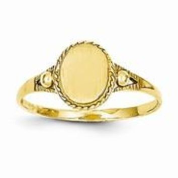 14k Yellow Gold Childs Fancy Signet Ring
