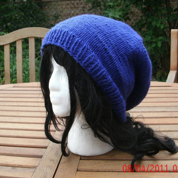 Hand Knit Hat - The Rasta in Royal Blue - Rasta Hat Handmade Unisex Hat - Spring, Fall, Winter Accessories