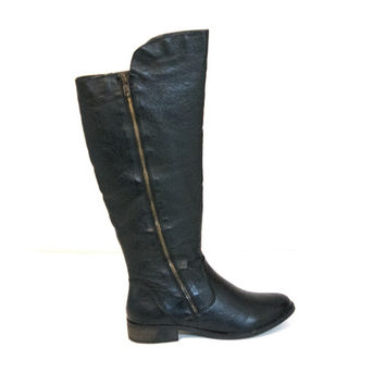 Steve Madden Shawny - Black Knee-High Riding Boot