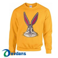 Bugs Bunny Sweatshirt Unisex Adult Size S to 3XL