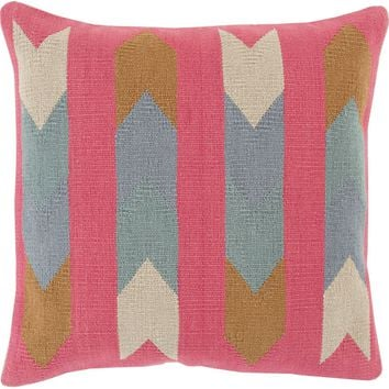 Cotton Kilim Throw Pillow Neutral, Brown
