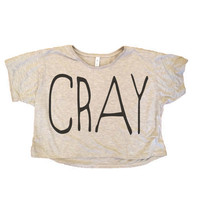 Cray Boxy Cutoff Women's Shirt - All Sizes Available