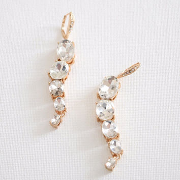 Snake Crystal Earrings