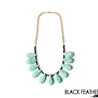 Turquoise Bib Necklace and Chain