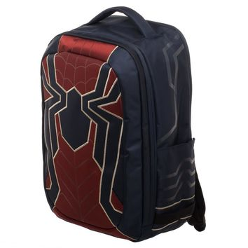 Marvel Spiderman Laptop Bag, New Avengers Costume Style Red with Blue, Back to School Backpack