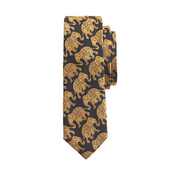 crewcuts Boys Silk Tie In Elephant Print