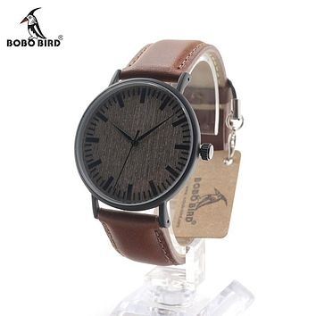 BOBO BIRD E25 Vintage Ebony Wood Watch
