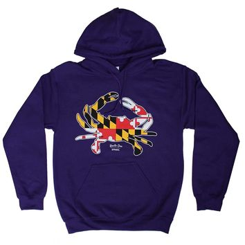 Maryland Full Flag Crab (Purple) / Hoodie