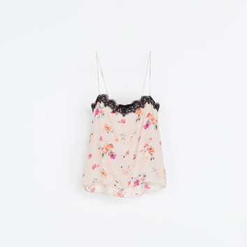 PRINTED LACE TOP - Woman - New this week | ZARA United States