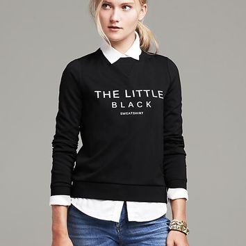 """The Little Black Sweatshirt"" Pullover"