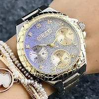 GUESS Woman Men Fashion Quartz Movement Wristwatch Watch