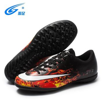 ZHENZU Brand Professional Soccer Football Shoes Children Outdoor TF Turf  Soccer Cleats Athletic Trainers Sneakers Adults SHOES