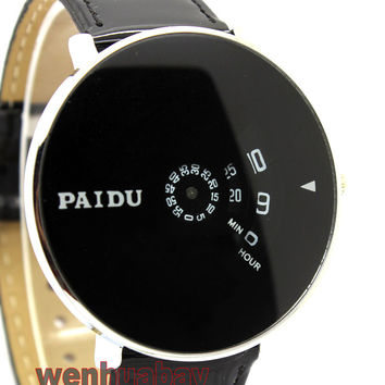 Paidu Wrist Watch Women dress watches hour clock Leather Digital men fashion Casual watch Unisex Quartz watch relogio relojes